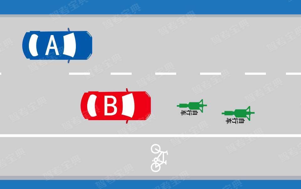 如图所示,驾驶机动车遇到这种情况,B车做法正确的是什么?