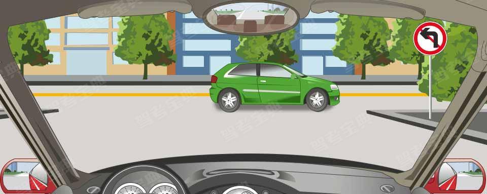 右侧标志表示前方路口不准车辆左转。