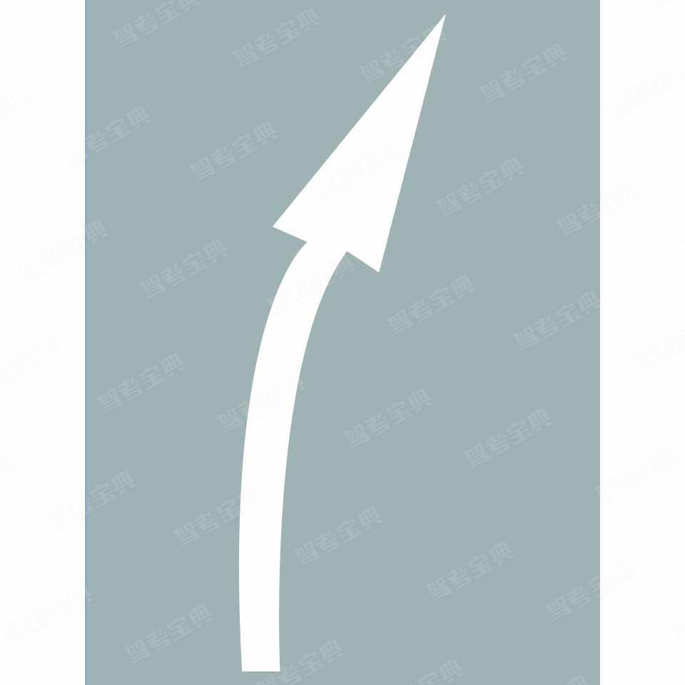 路面上导向箭头是何含义?
