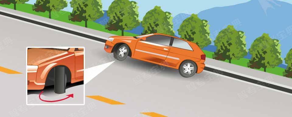 驾驶机动车在这种情况下临时停车后,为避免机动车后溜可将转向盘向左转。
