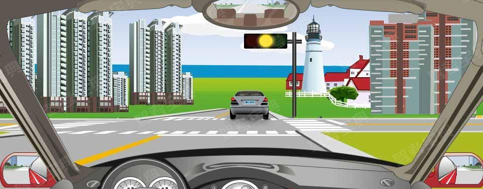 驾驶机动车在路口遇到这种信号灯表示什么意思?