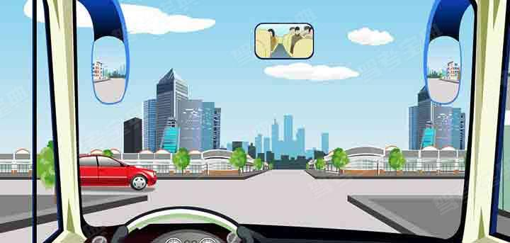 在这种情况的路口哪辆直行车优先通行?
