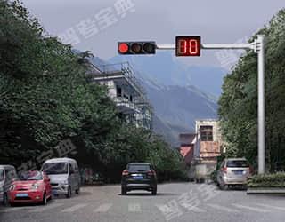 如图所示,驾驶机动车在路口遇到这种交通信号时,右转弯的车辆在不妨碍被放行的车辆、行人的情况下,可以通行。