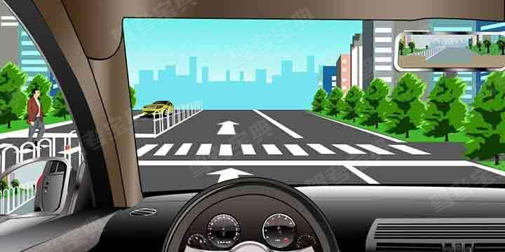 如图所示,驾驶机动车在这个路段想要掉头时,以下做法正确的是什么?
