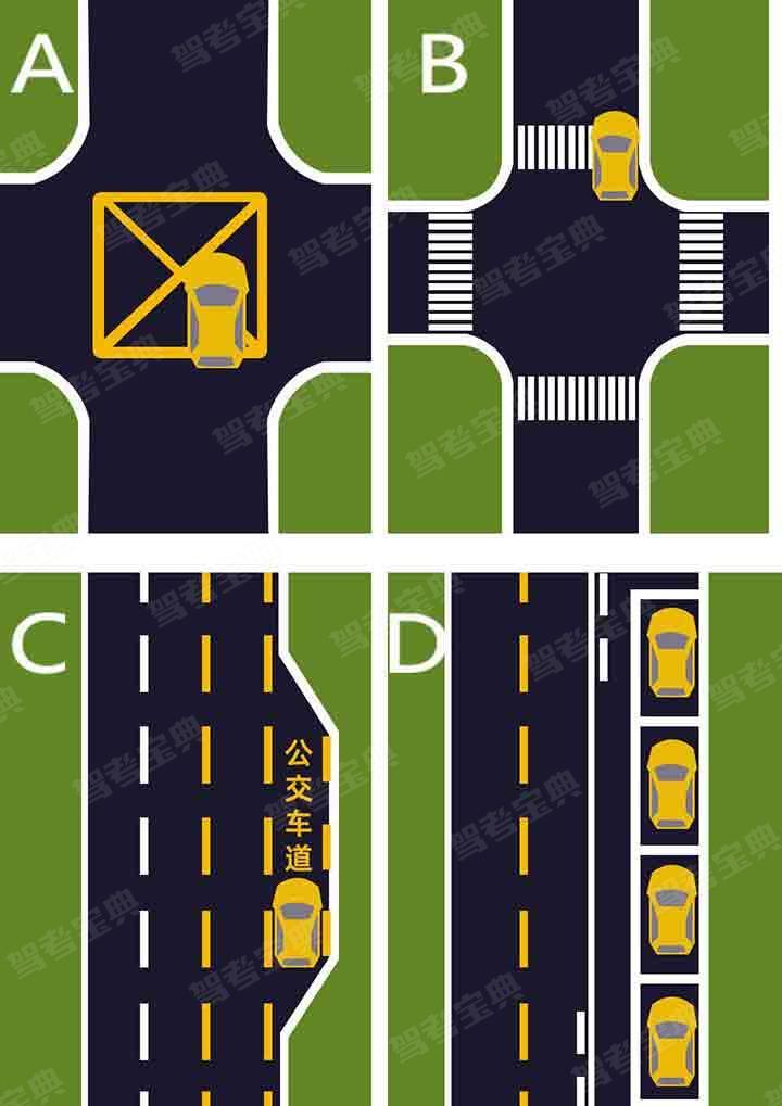 如图所示,D图的停车行为是正确的?