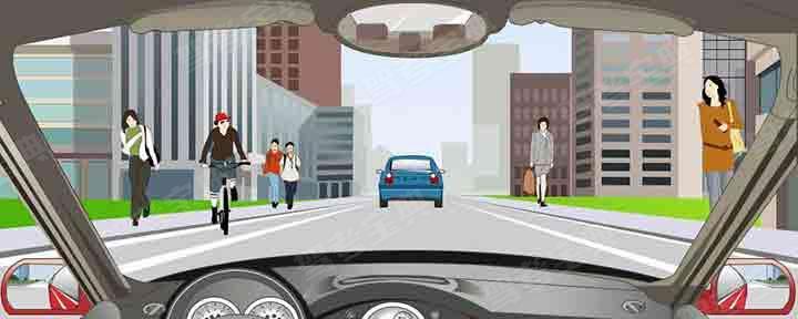 在这段城市道路上行驶的最高速度不能超过多少?