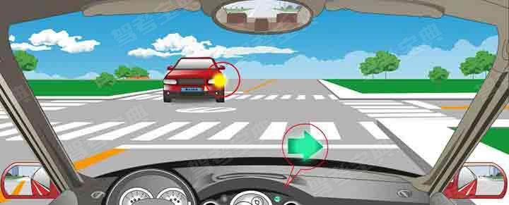 在交叉路口遇到这种情况享有优先通行权。