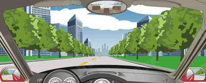 在这段道路上,只要不影响其他车辆通行的前提下可以掉头。