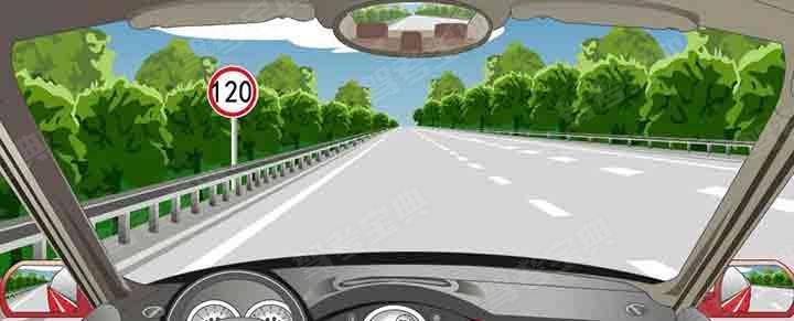 在这段高速公路上行驶的最高车速是多少?