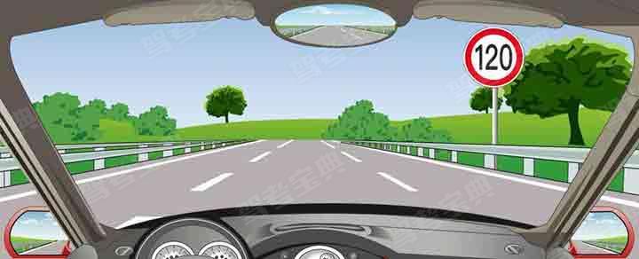 在这条车道行驶的最低车速是多少?