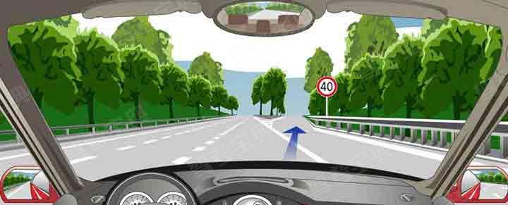 驶离高速公路可以从这个位置直接驶入匝道。