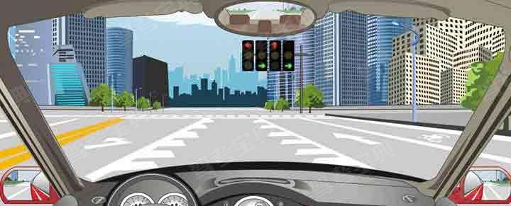 路面可变导向车道线指示可以随意选择通行方向。