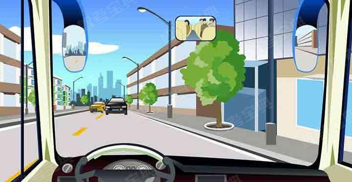 驾驶机动车遇到这种情况怎样行驶最安全?