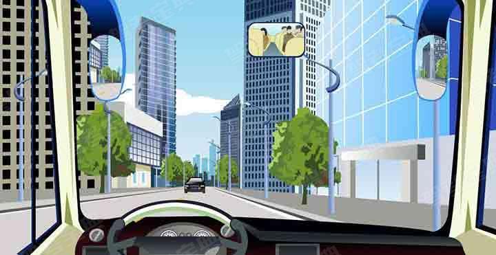 驾驶机动车遇到这种情况时要向左占道行驶。