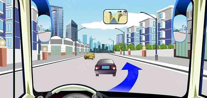 驾驶机动车在这种道路上从前车右侧超越最安全。