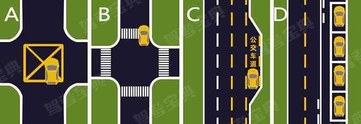 如图所示,以下哪种停车行为是正确的?