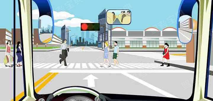 驾驶机动车在该处不影响行人正常通行的情况下可以掉头。