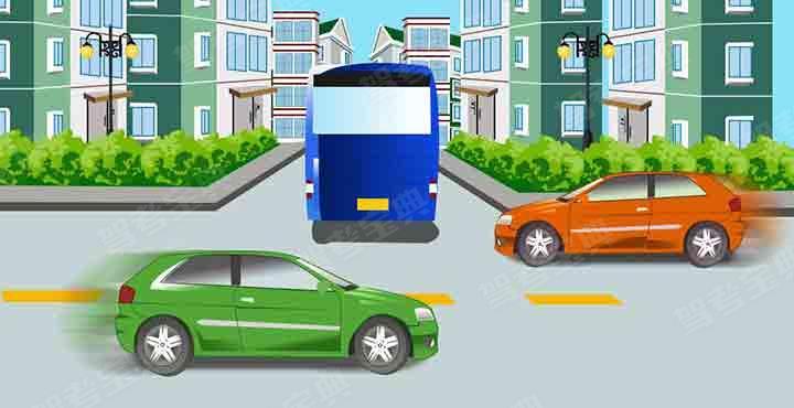 大客车倒车时遇到这种情况怎样做以保证安全?