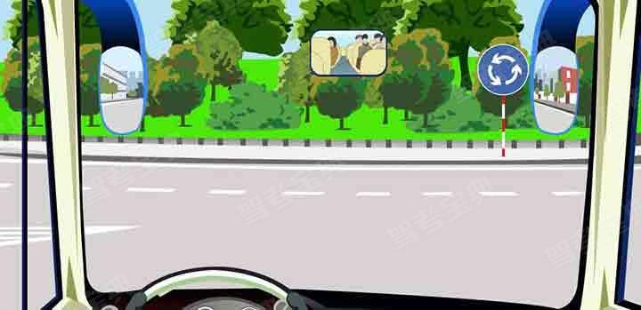 驾驶机动车进入这个路口怎样使用灯光?