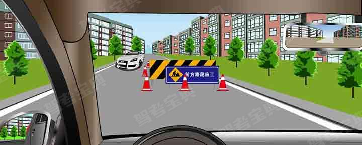 如图所示,在这种情形下,对方车辆具有先行权。