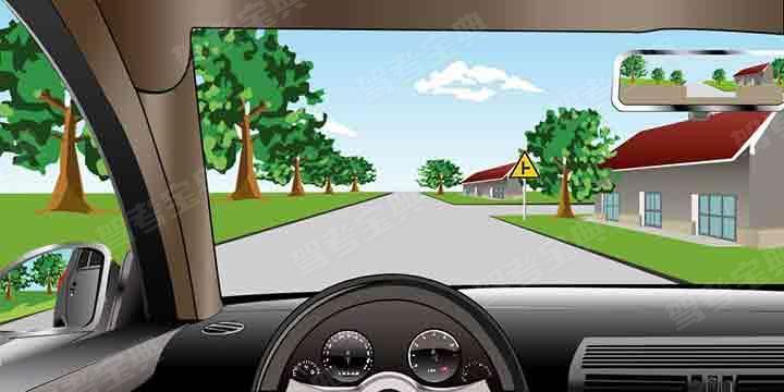 如图所示,当车辆驶进这样的路口时,以下说法错误的是什么?