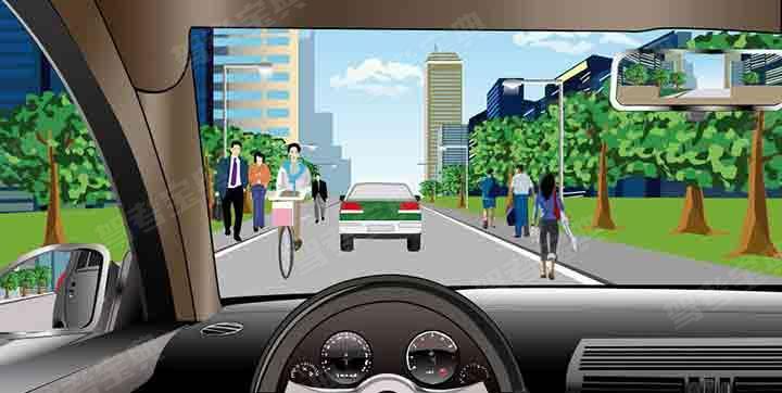 如图所示,机动车在这样的城市道路上行驶,最高的行驶速度不得超过50公里/小时。