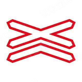 如圖所示,鐵道路口設置這個標志,是提示駕駛人前方路口有單股鐵道。