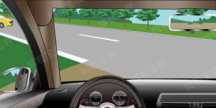 如图所示,驾驶机动车遇到这种主路左侧来车的情况,以下说法正确的是什么?
