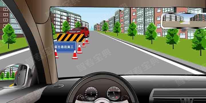 如图所示,驾驶机动车遇到这种情况时,我方车辆享有优先通行权。