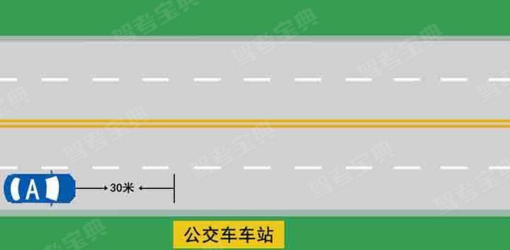 如图所示,A车在此处停车是可以的。