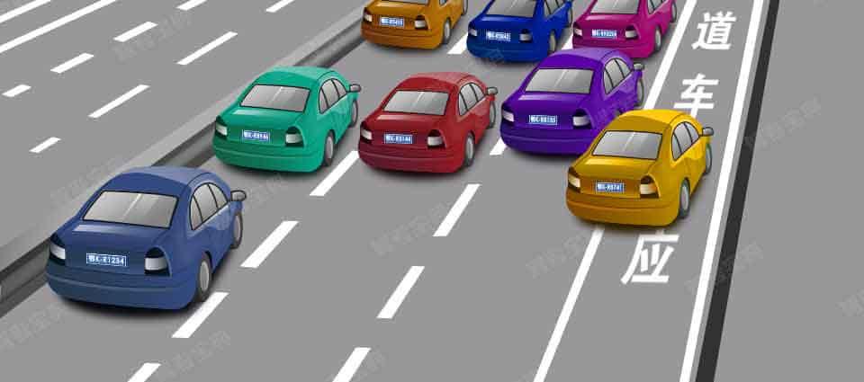 图中黄色机动车驾驶人违法占用高速公路应急车道行驶,会被记3分。