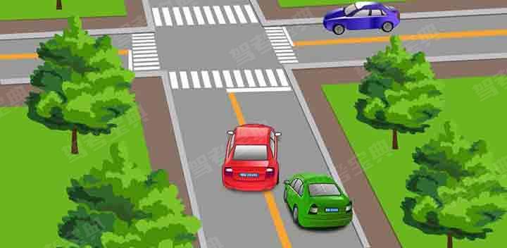 请判断一下图中红色机动车有几种违法行为?