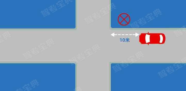 在图中位置停车会被记多少分?