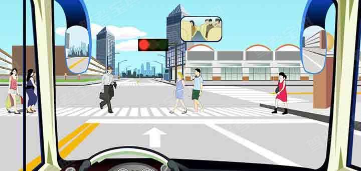 如圖,駕駛機動車在該處不影響行人正常通行的情況下可以掉頭。