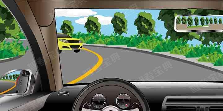 如图所示,在这种情况下要充分减速靠右行驶。