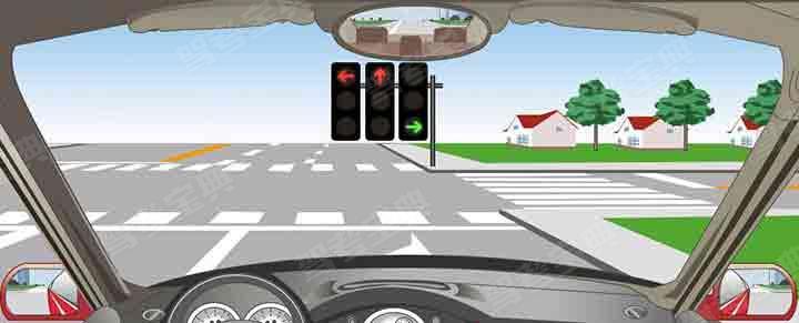 有这种信号灯的路口允许机动车如何行驶?