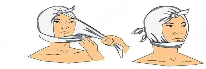 如图所示的三角巾包扎法属于( )。