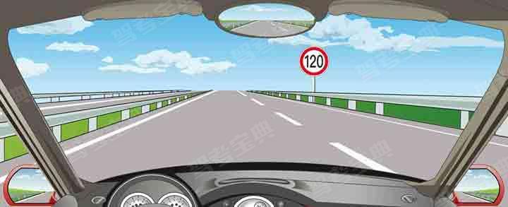在這條車道行駛的最低車速是多少?