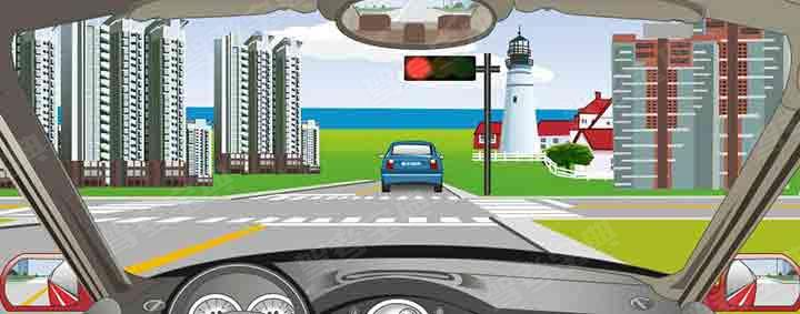 驾驶机动车在路口直行遇到这种信号灯应该怎样行驶?