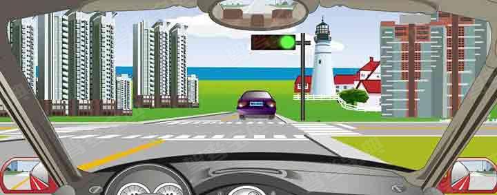 驾驶机动车在路口遇到这种信号灯禁止通行。