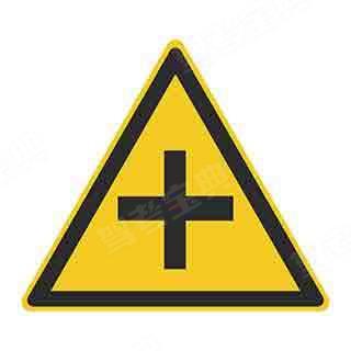 这个标志的作用是用以警告车辆驾驶人谨慎慢行,注意横向来车。