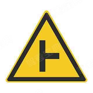 这个标志的含义是前方即将行驶至Y型交叉路口?