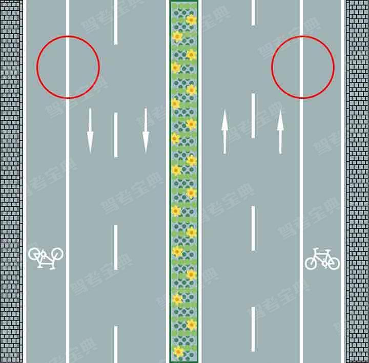 路两侧的车行道边缘白色实线是什么含义?