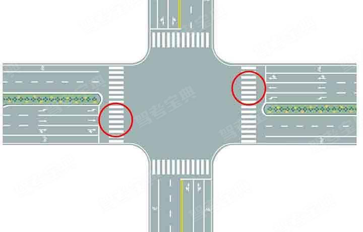 图中圈内的路面标记是什么标线?