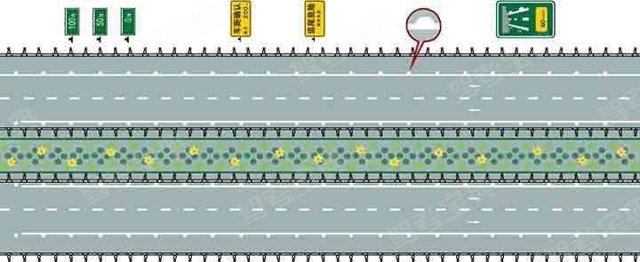 图中圈内的白色半圆状标记是什么标线?