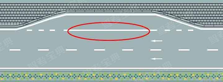 红色圆圈内标线含义是什么?