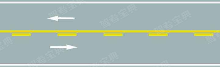 路中心黄色虚实线是何含义?
