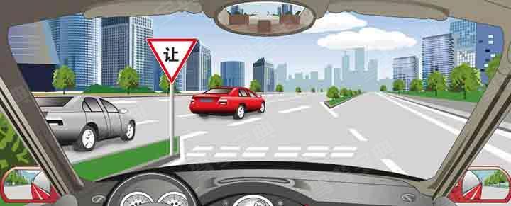 驾驶机动车在这种情况下怎样汇入主路车流?