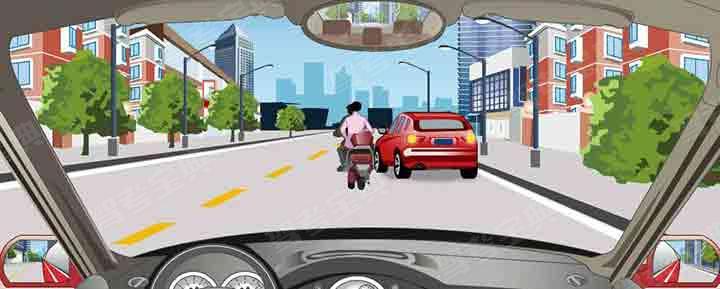 驾驶机动车遇到这种情况怎样行驶?