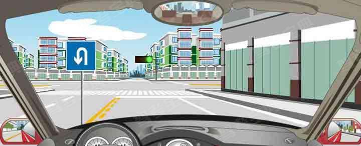 驾驶机动车在前方路口怎样掉头?